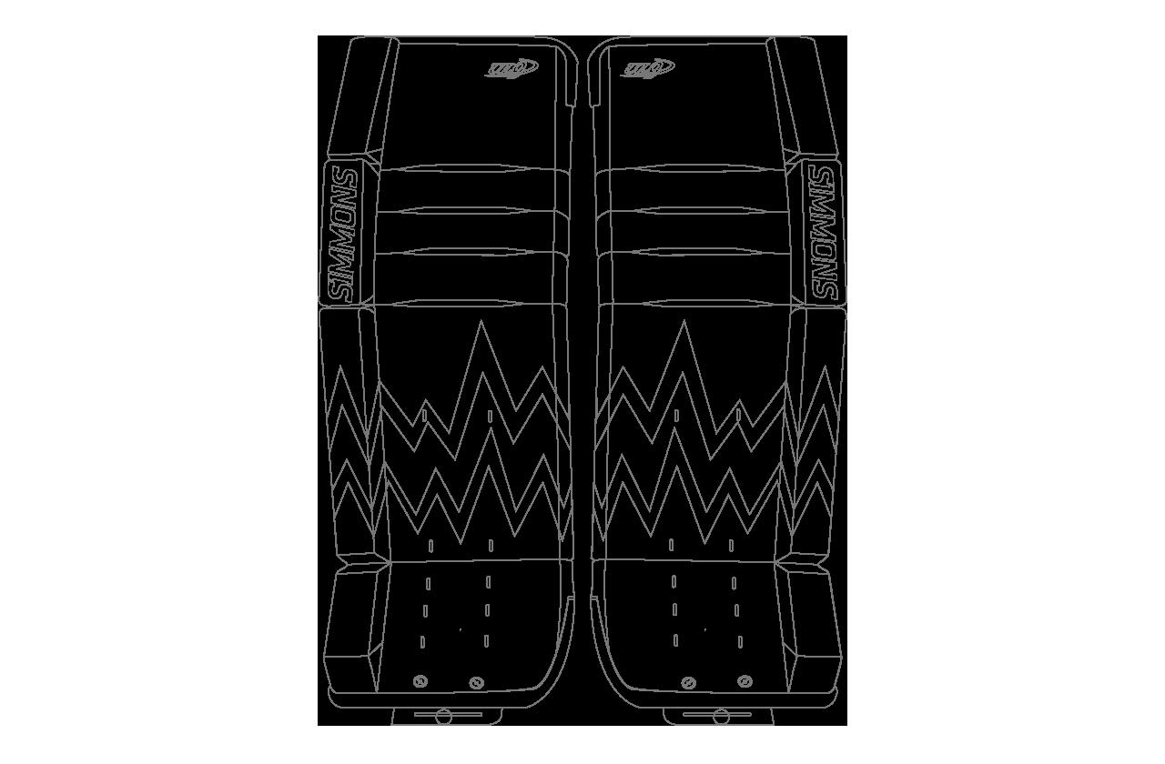 Customizer Ultra Light 9 Goalie Pads : IceBerg Graphic – Simmons Hockey