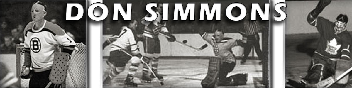 About Don Simmons the Goalie – Simmons Hockey