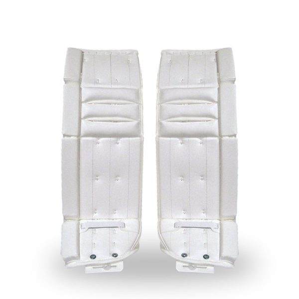simmons-999-intermediate-pro-goalie-pads-white-front