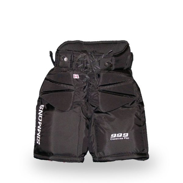 simmons-999-junior-pro-goalie-pants-front-black