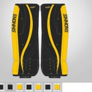 Don-Simmons-Sports-Ultra-Light-9-UL9-FlatFace-Custom-Pads-Boston-Bruins-Colors