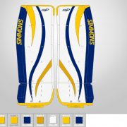 Don-Simmons-Sports-Ultra-Light-9-UL9-FlatFace-Custom-Pads-Buffalo-Sabres-Colors