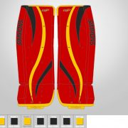 Don-Simmons-Sports-Ultra-Light-9-UL9-FlatFace-Custom-Pads-Calgary-Flames-Colors