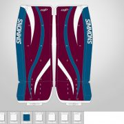 Don-Simmons-Sports-Ultra-Light-9-UL9-FlatFace-Custom-Pads-Colorado-Avalanche-Colors