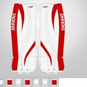 Don-Simmons-Sports-Ultra-Light-9-UL9-FlatFace-Custom-Pads-Detroit-Red-Wings-Colors
