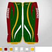 Don-Simmons-Sports-Ultra-Light-9-UL9-FlatFace-Custom-Pads-Minnesota-Wild-Colors