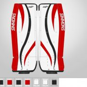 Don-Simmons-Sports-Ultra-Light-9-UL9-FlatFace-Custom-Pads-New-Jersey-Devils-Colors