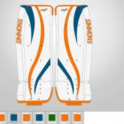 Don-Simmons-Sports-Ultra-Light-9-UL9-FlatFace-Custom-Pads-New-York-Islanders-Colors
