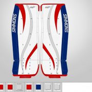 Don-Simmons-Sports-Ultra-Light-9-UL9-FlatFace-Custom-Pads-New-York-Rangers-Colors