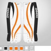 Don-Simmons-Sports-Ultra-Light-9-UL9-FlatFace-Custom-Pads-Philadelphia-Flyers-Colors