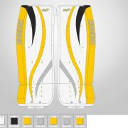 Don-Simmons-Sports-Ultra-Light-9-UL9-FlatFace-Custom-Pads-Pittsburgh-Penguins-Colors