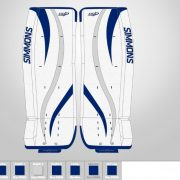 Don-Simmons-Sports-Ultra-Light-9-UL9-FlatFace-Custom-Pads-Toronto-Maple-Leafs-Colors