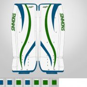 Don-Simmons-Sports-Ultra-Light-9-UL9-FlatFace-Custom-Pads-Vancouver-Canucks-Colors