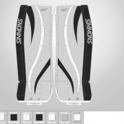 Don-Simmons-Sports-Ultra-Light-9-UL9-FlatFace-Custom-PadsLos-Angeles-Kings-Colors