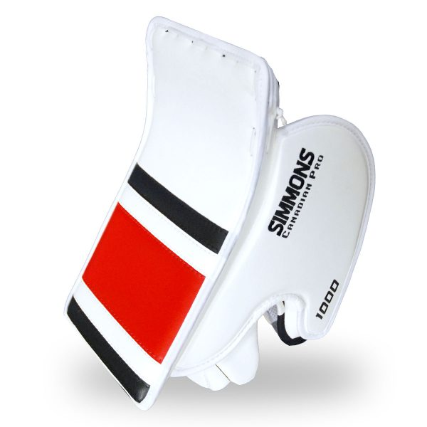 simmons-1000-goalie-blocker-stripe-angle-white-black-red-2