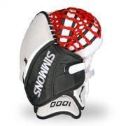 simmons-1000-goalie-catcher-stripe-back-white-black-red
