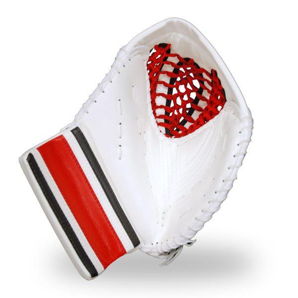 simmons-1000-goalie-catcher-stripe-front-white-black-red