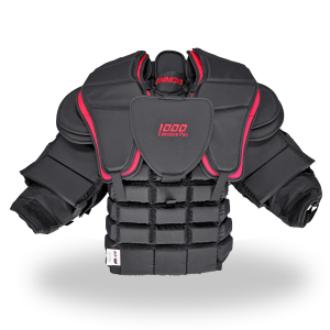 Simmons-1000-Pro-Chest-and-Arm-Front-Black-Red