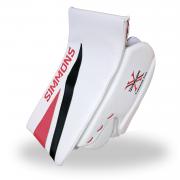 Simmons-ULX-Pro-Goalie-Blocker-White-Red-Black-Front-Angle
