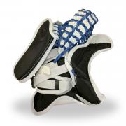 Simmons-ULX-Pro-Goalie-Catcher-White-Blue-Black-Back-Open
