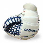 Simmons-ULX-Pro-Goalie-Catcher-White-Blue-Black-Fringers