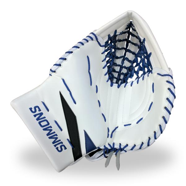 Simmons-ULX-Pro-Goalie-Catcher-White-Blue-Black-Front