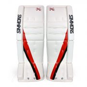 Simmons-ULX-Pro-Goalie-Pads-Front-White-Red-Black