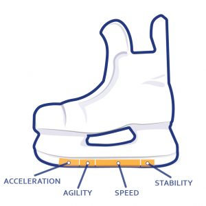 Skate profile zones
